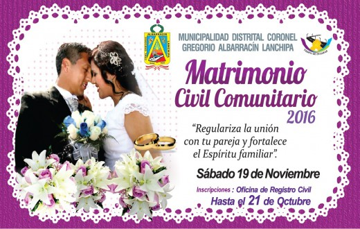 Matrimonio comunitario 2016